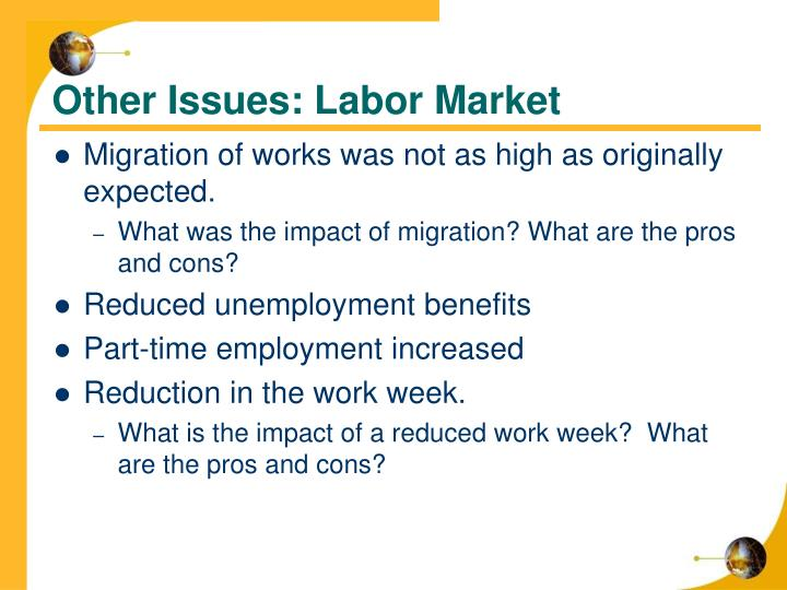Other Issues: Labor Market