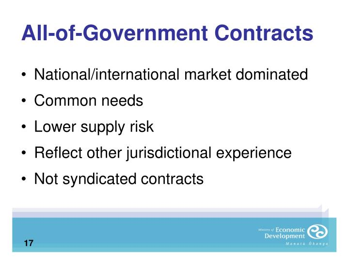 All-of-Government Contracts