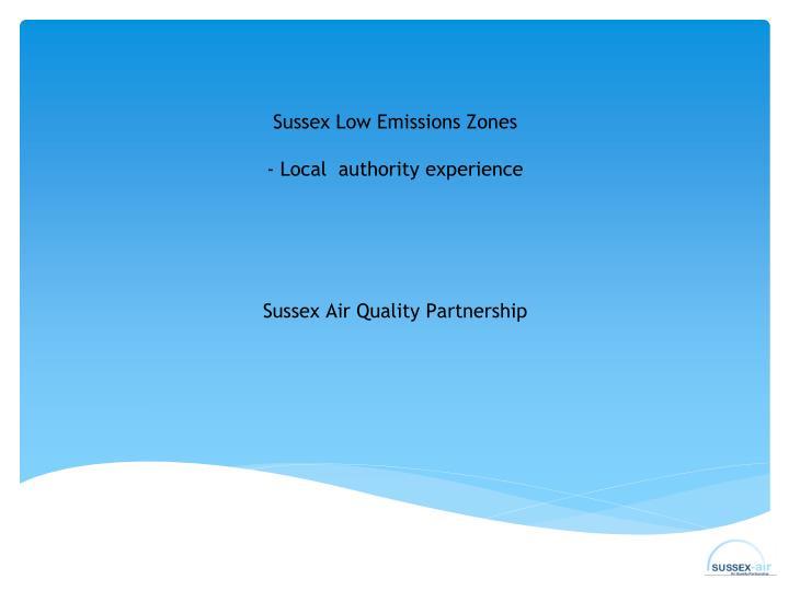 Sussex Low Emissions
