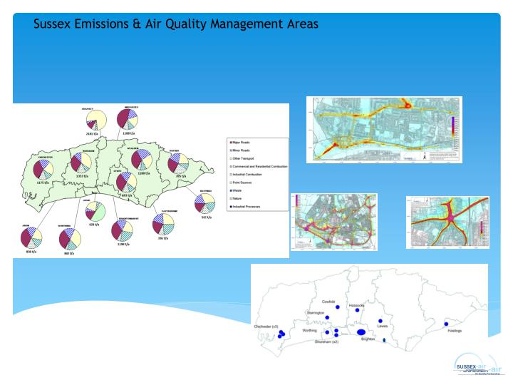 Sussex Emissions & Air Quality Management Areas