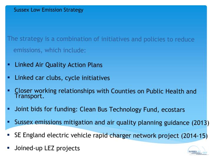 Sussex Low Emission Strategy