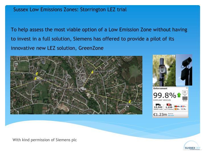 Sussex Low Emissions Zones: Storrington LEZ trial