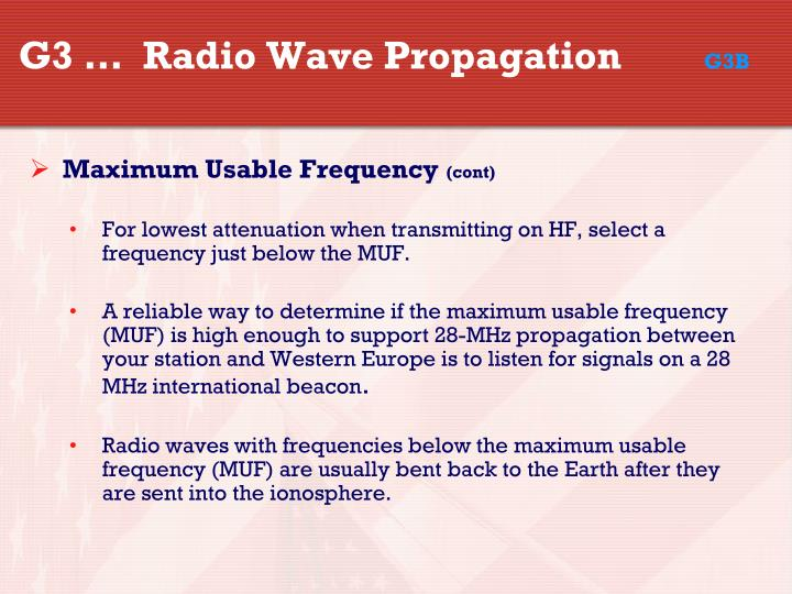 G3 …  Radio Wave Propagation