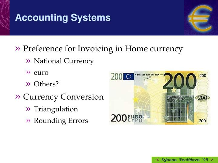 Preference for Invoicing in Home currency