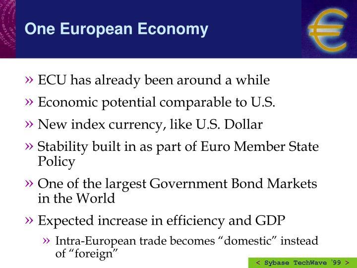 One European Economy