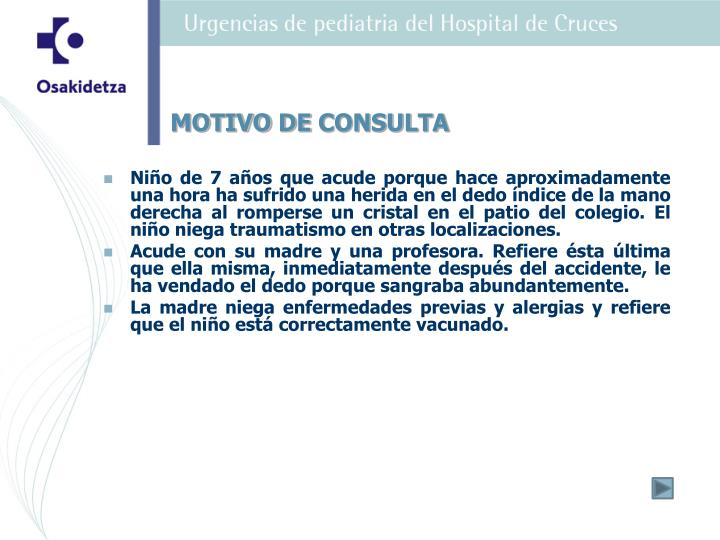 MOTIVO DE CONSULTA