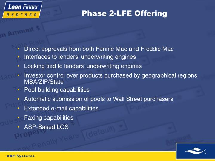 Phase 2-LFE Offering