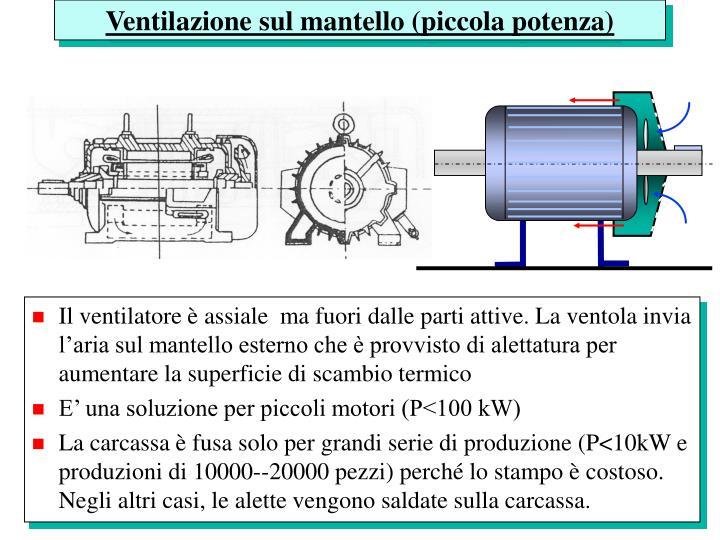 Ventilazione sul mantello (piccola potenza)