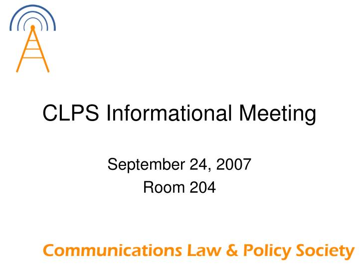 clps informational meeting