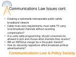 communications law issues cont