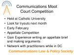communications moot court competition