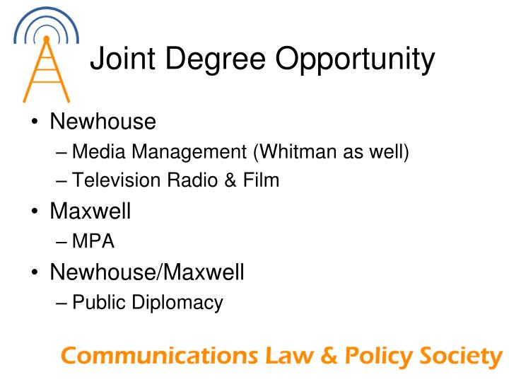 Joint Degree Opportunity