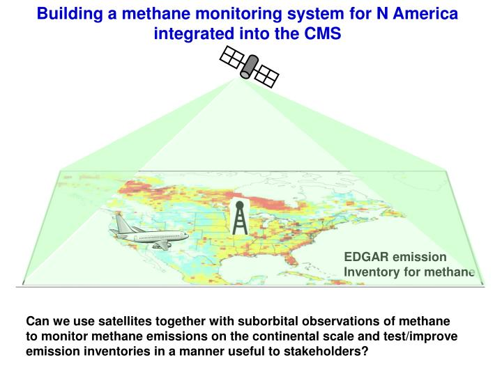 Building a methane monitoring system for n america integrated into the cms