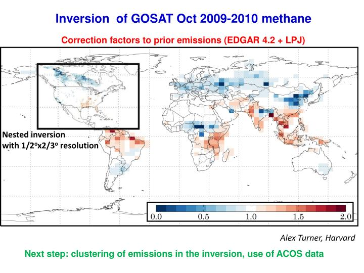 Inversion  of GOSAT Oct 2009-2010 methane