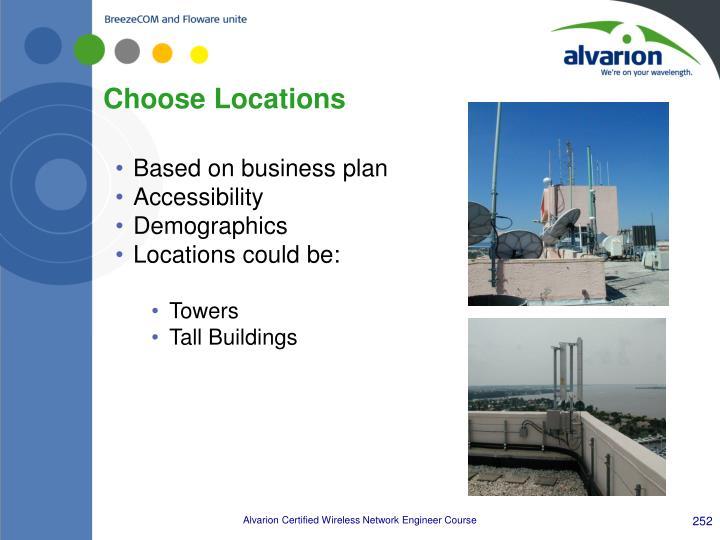 Choose Locations