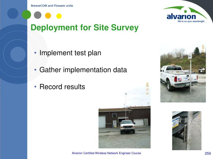 Deployment for Site Survey