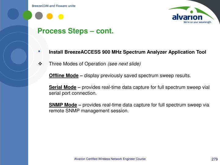 Process Steps – cont.