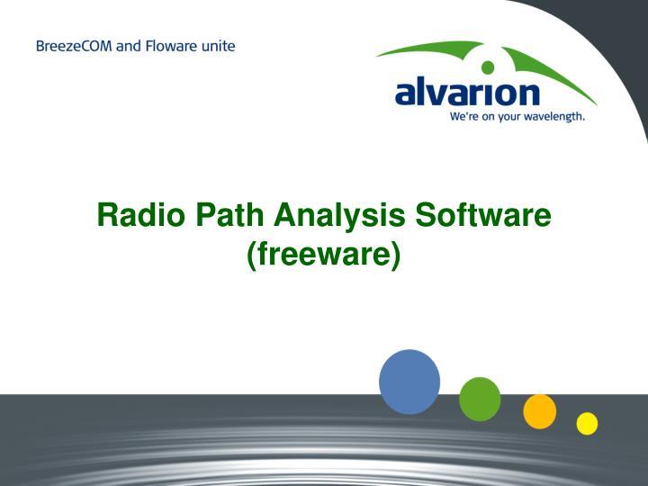 Radio Path Analysis Software (freeware)