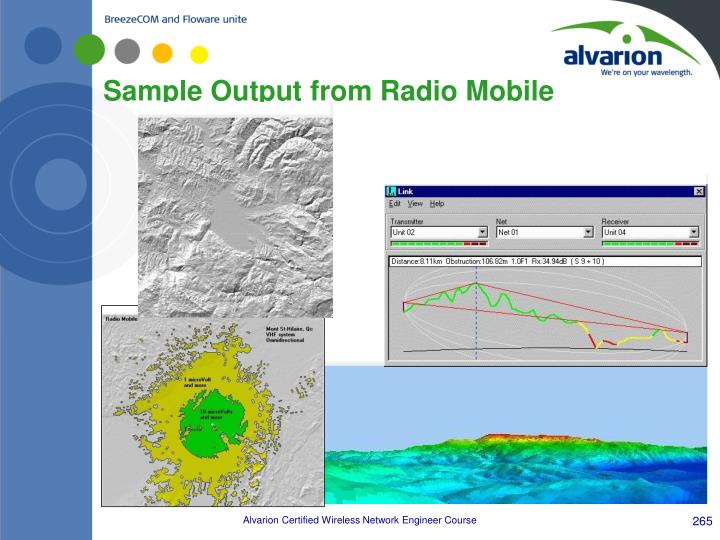 Sample Output from Radio Mobile