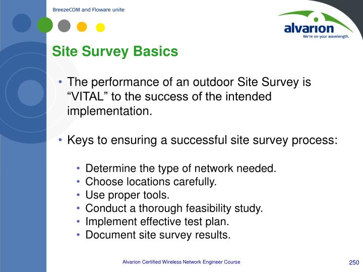 Site Survey Basics