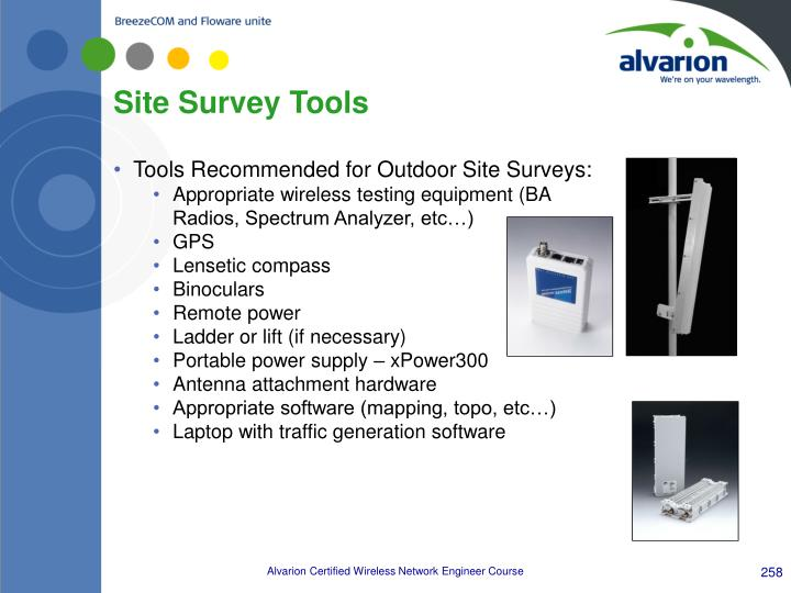Site Survey Tools