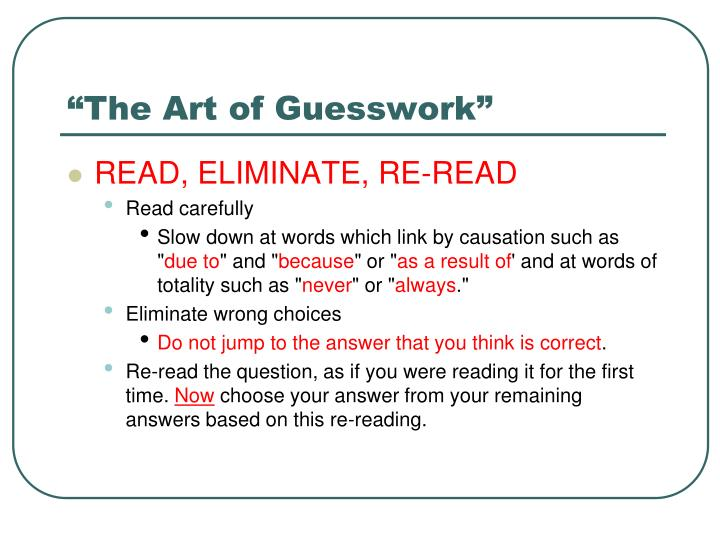"""""""The Art of Guesswork"""""""
