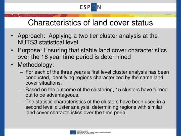 Characteristics of land cover status