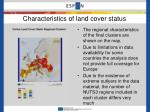 characteristics of land cover status1