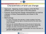 characteristics of land use change