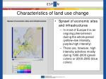 characteristics of land use change1