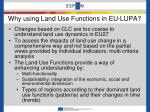 why using land use functions in eu lupa1
