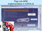 flap link apm implementation in catia v5