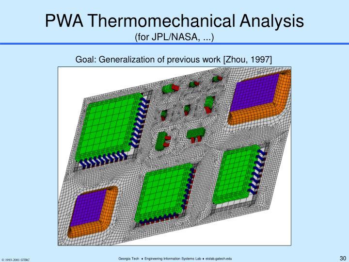 PWA Thermomechanical Analysis