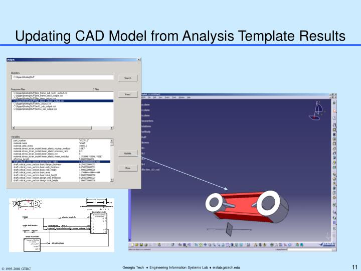 Updating CAD Model from Analysis Template Results