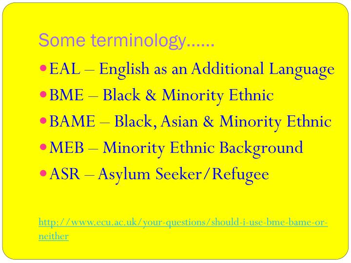 Some terminology……