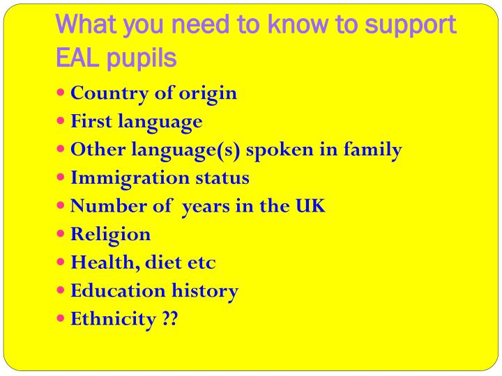 What you need to know to support EAL pupils