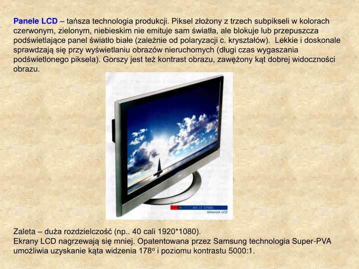 Panele LCD