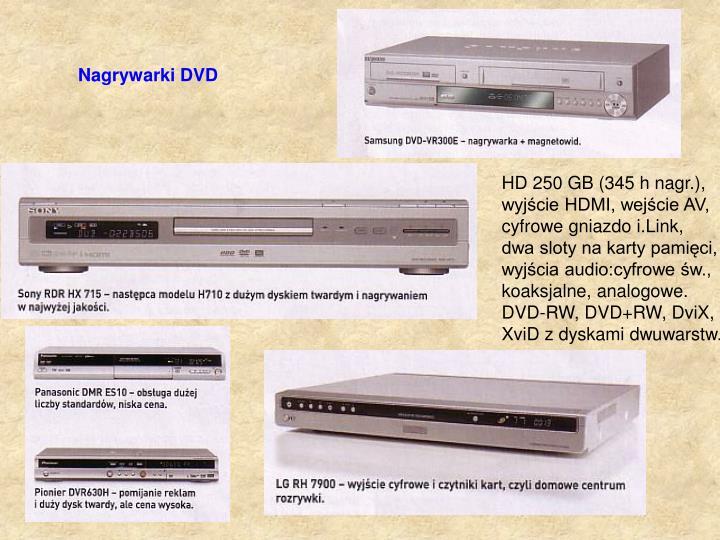 Nagrywarki DVD