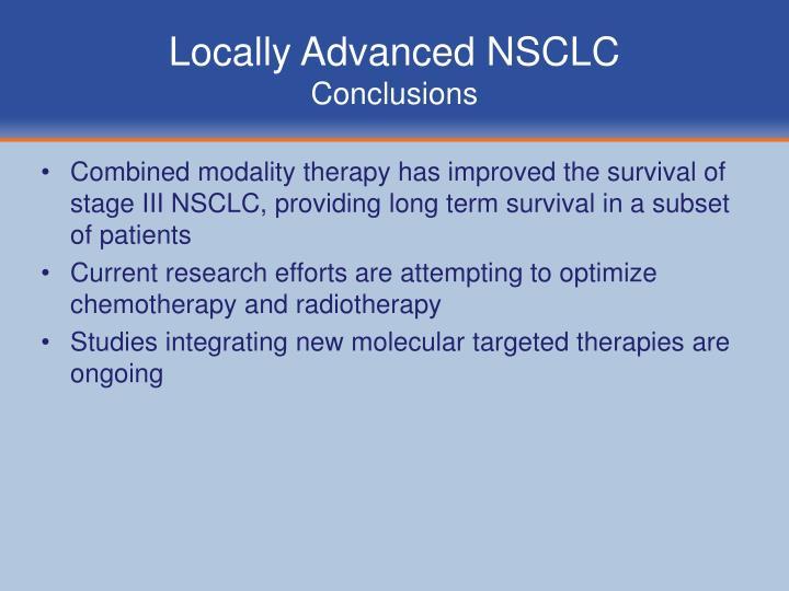Locally Advanced NSCLC