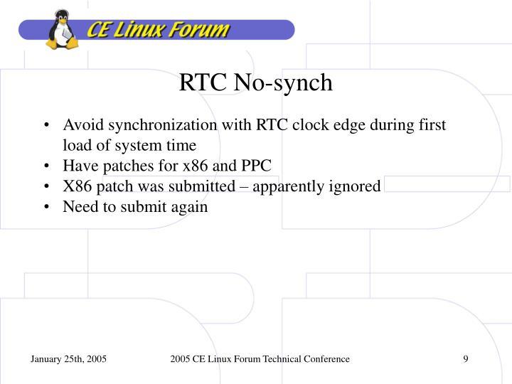 RTC No-synch