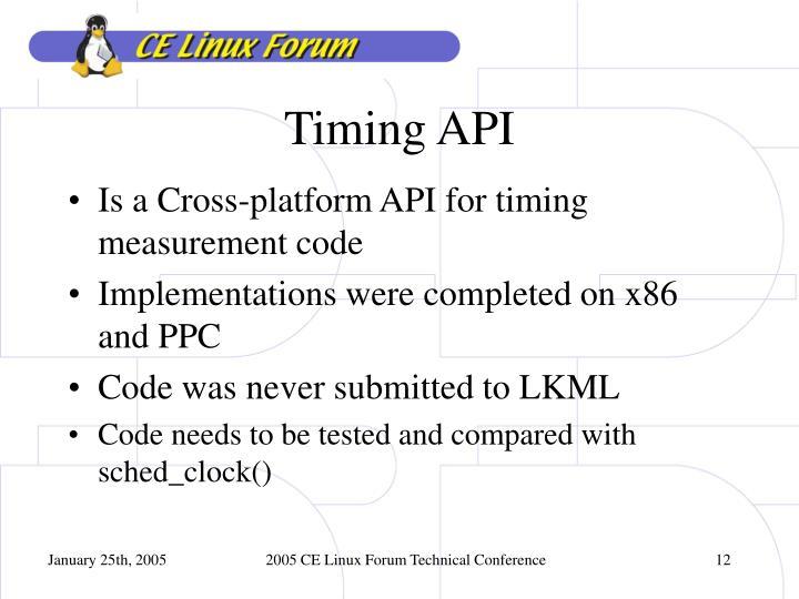 Timing API
