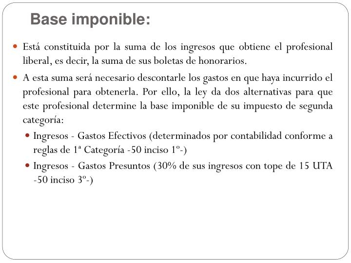 Base imponible: