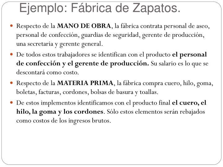 Ejemplo: Fábrica de Zapatos.
