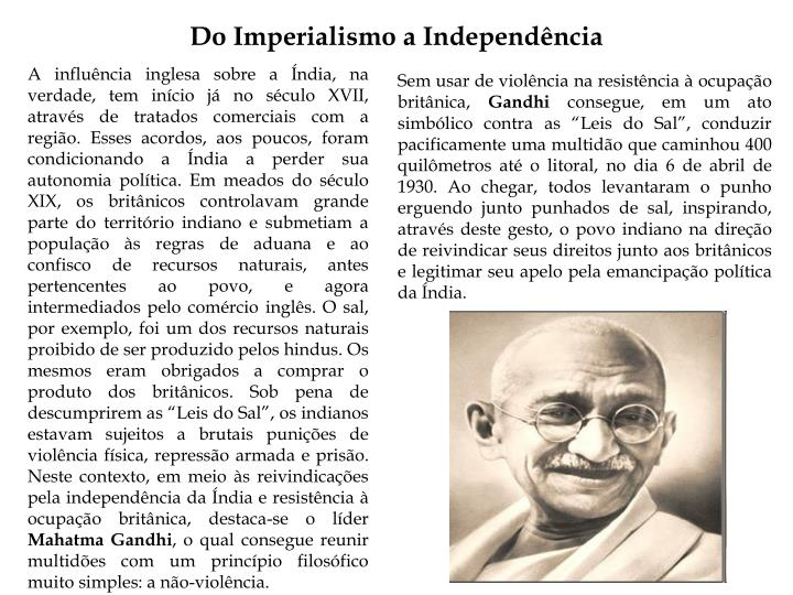 Do Imperialismo a Independência