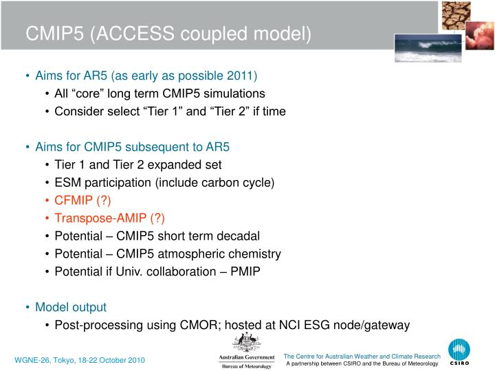 CMIP5 (ACCESS coupled model)