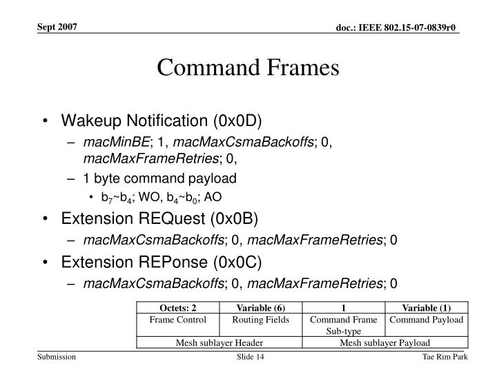 Command Frames