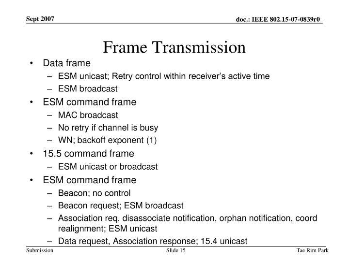 Frame Transmission