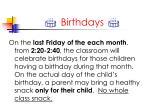 i birthdays i