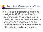 teacher conference time