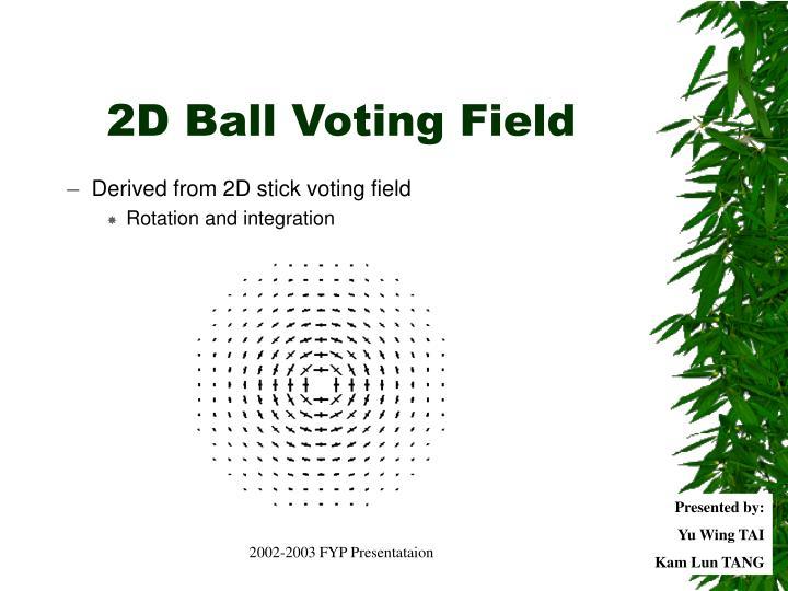 2D Ball Voting Field
